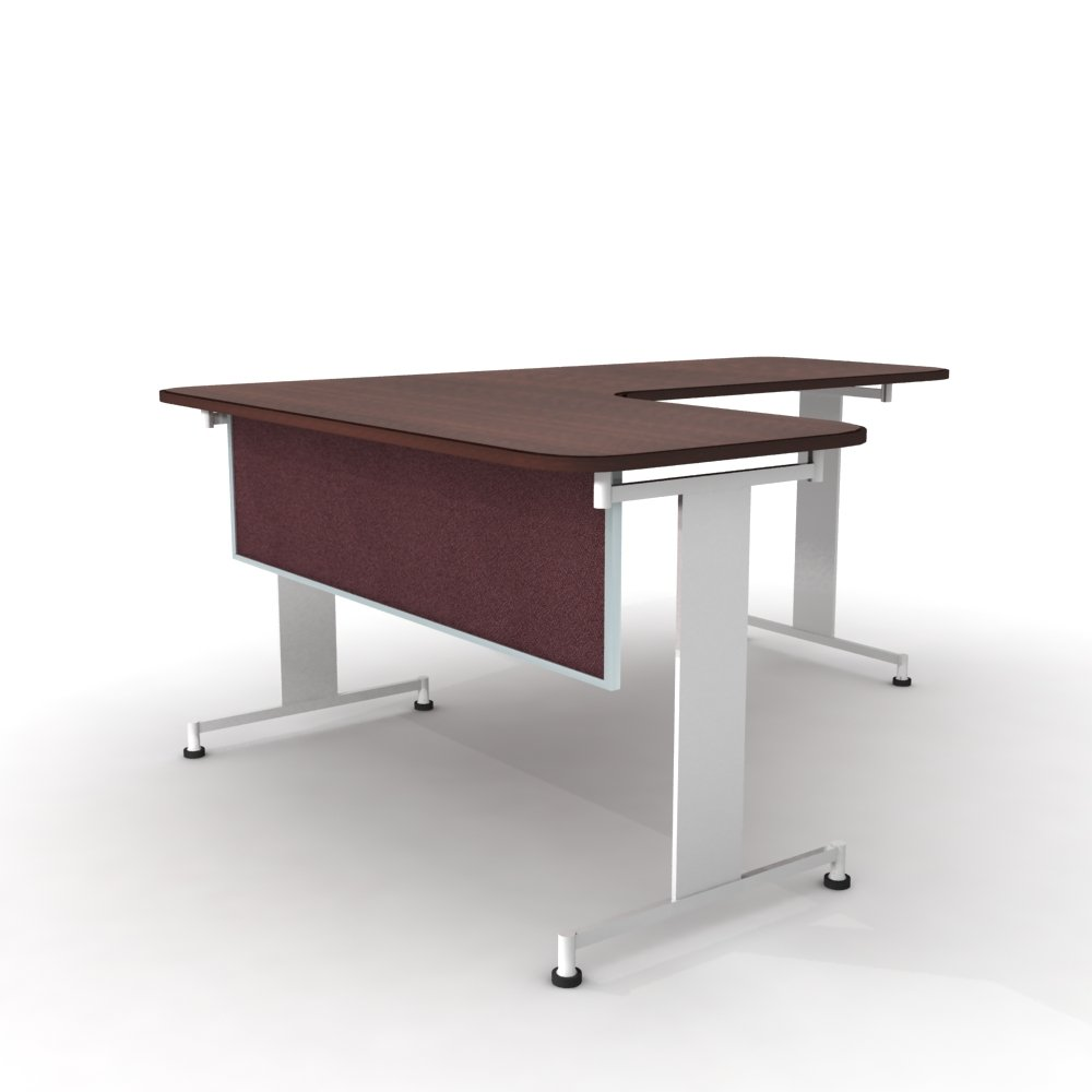 Obex 12X72A-A-VI-MP 12'' Acoustical Desk and Table Mounted Modesty Panel, Vintage, 12'' x 72''