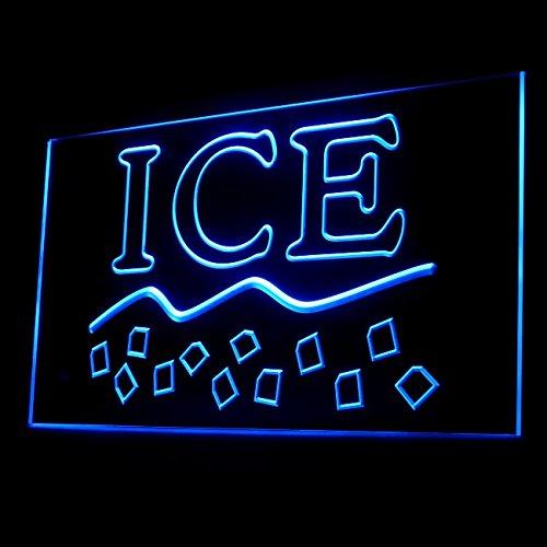 200072 Dry Ice Frozen Cold Cool Cubes Melting Glacier Display LED Light Sign