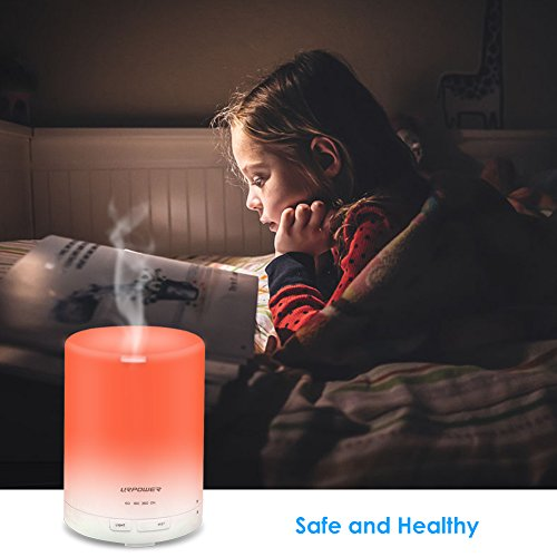 URPOWER 2nd Gen 300ml Aroma Essential Oil Diffuser Night Light Ultrasonic Air Humidifier with AUTO