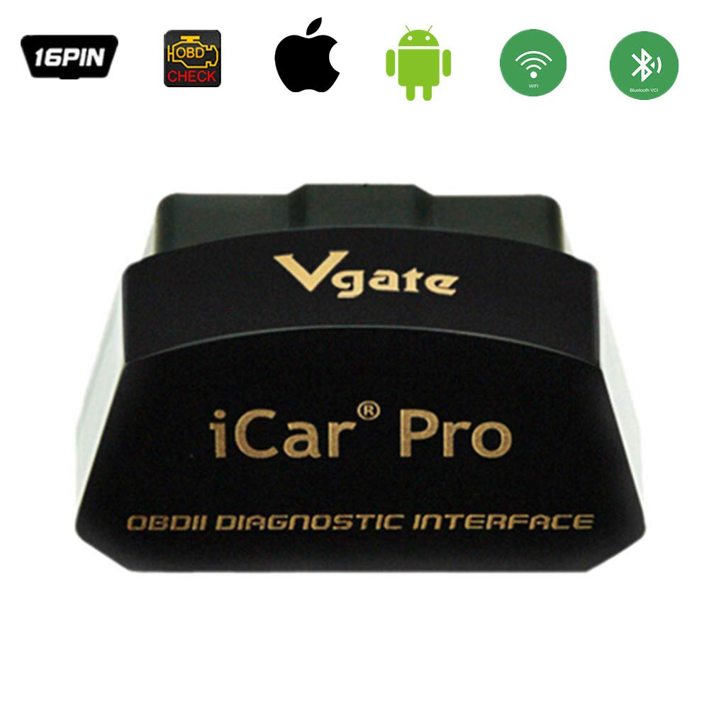 Vgate iCar Pro WiFi Bluetooth OBD2 Scanner for iOS/Android iCar Auto OBD Diagnostic Interface with 2 Years Warranty