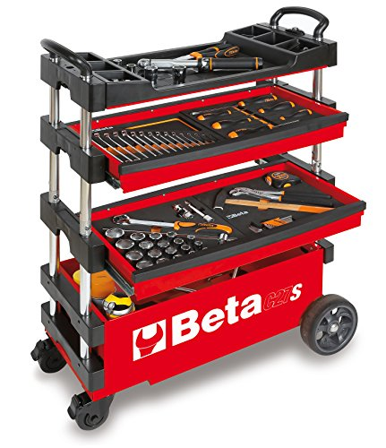 Beta Tools C27S-R Folding Tool Trolley for Portable USE - RED from Beta Tools