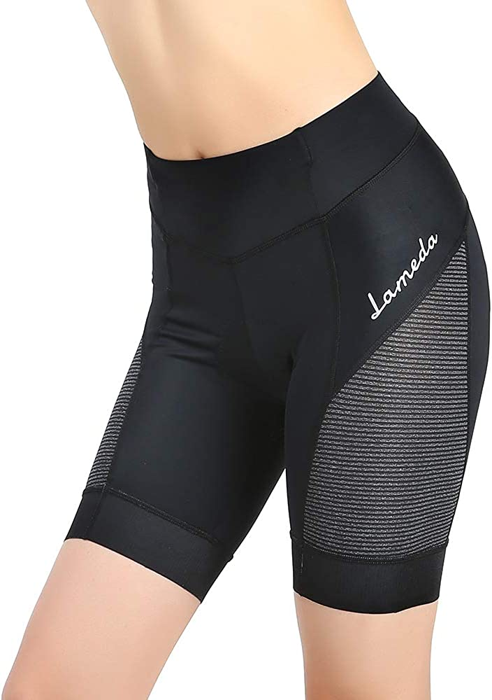 LAMEDA Gel Padded Women Bike Shorts Girls Cycling Shorts Women Black