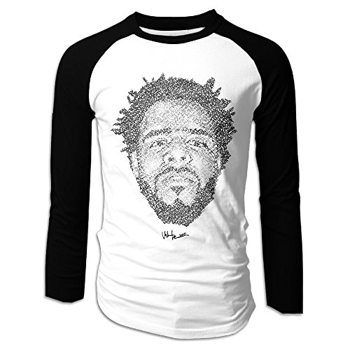 Mens J. Cole Lyric Drawing Classic Long Sleeve Raglan Plain Shir Ts - Clothing Locksley