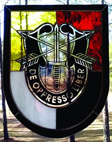 3D Special Forces Group Stained Glass Unit Crest