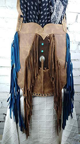 Bolso Marrón Cuero Diseño Mujer Estilo Hippie