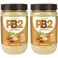 Bell Plantation PB2 Powdered Peanut Butter, 1 lb Jar (2-pack)