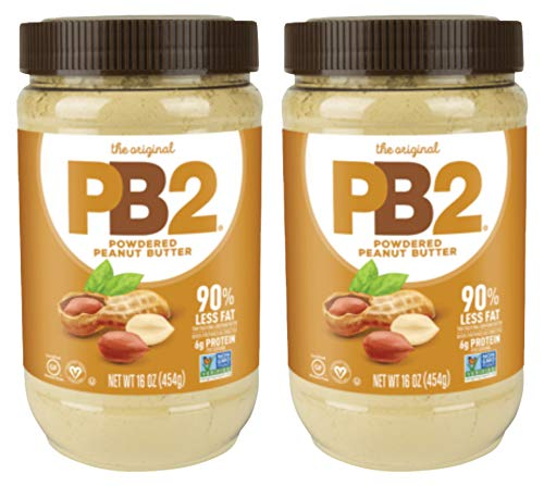 Bell Plantation PB2 Powdered Peanut Butter, 1 lb Jar (2-pack) (Best No Bake Chocolate Peanut Butter Oatmeal Cookies)