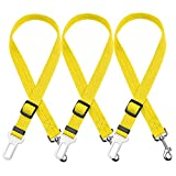 luciphia Dog Seat Belt, 3 Packs Adjustable Vehicle Car Seatbelt Leash Safety Leads Harness for Pets Cats Animals Yellow