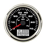 ELING Marine GPS Speedometer Odometer 0-70Knots 0-80MPH with Trip COG ODO 85mm