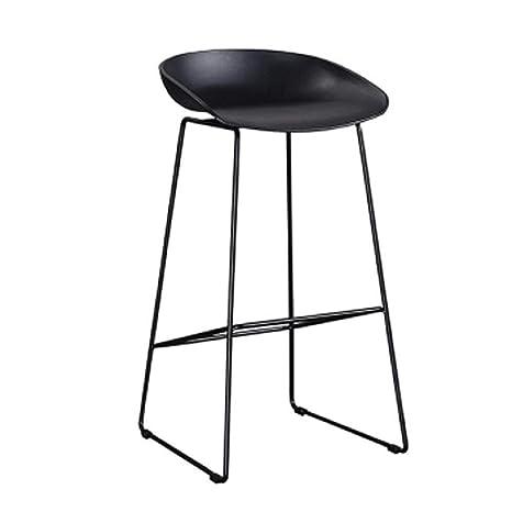 Amazon.com: European bar Chair,Nordic Style Chair,Black ...