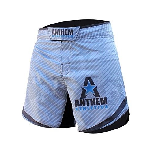 Anthem Athletics DEFIANCE Kickboxing Short MMA Shorts - Muay Thai, BJJ, WOD, Cross-Training, OCR - White Line Camo - 32