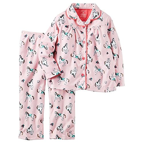 Carters Horses Flannel Coat Style Pajamas