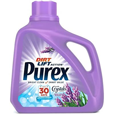Purex Dirt Lift Action Fresh Lavender Blossom with Crystals Fragrance Set of 3, 150 fl oz/per bottle, Total of 450 fl oz
