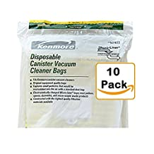 Kenmore Disposable Canister Vacuum Cleaner Bags 50403, 10-count
