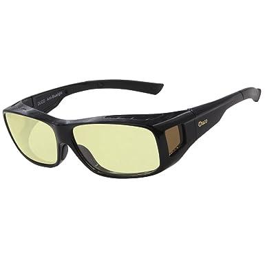 23d1eb0877 Duco Optiks Ergonomic Advanced Computer Gaming Wear Over Prescription  Glasses Anti Blue Light Wraparound Eyewear 8954L (Plus Size Black)  Amazon. co.uk  ...