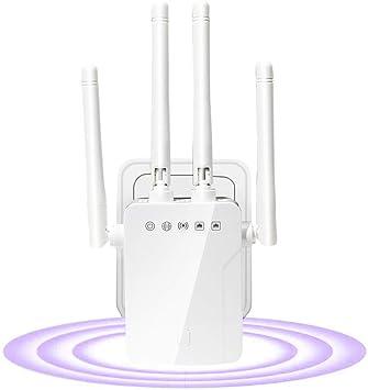 SOOTEWAY Amplificador Señal WiFi,300Mbps/2.4 GHz Repetidores WiFi Amplificador Extensor de WiFi con Largo Alcance Modo Punto de ...