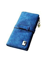 Surker Retro Matte Leather Draw String Two-Fold Lady Wallet