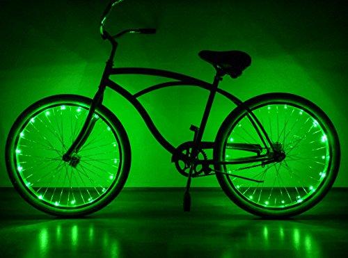 Neon Nightlife Green LED Light Up Bike Wheel Lights