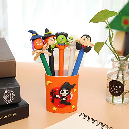 1KTon Halloween Soft Pottery Decorative Supplies Pen Desk Organizer Holder School Supplies -