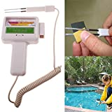 YOEDAF Swimming Pool Water Tester Portable Outdoor Spa Tester Detector PH Levels Chlorine Tester Meter Water Quality Measurement Monitor Checker for Swimming Pool, Spa Water, Water Spring