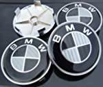 BMW BLACK REAL CARBON FIBRE 68MM ALLO...