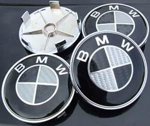 BMW Sashtech - Juego de 4 cubiertas para tapacubos, fibra de carbono, multicolor