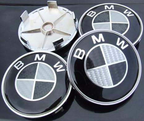 BMW Sashtech - Juego de 4 Cubiertas para tapacubos, Fibra de Carbono: Amazon.es: Hogar