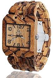 Wooden Watch by Gassen James - Men's style Omega III Zebra Wood