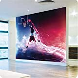 Ohcde Dheark 3D Wallpaper Fast And Furious Dunk Basketball Art Gallery Mural Wallpaper Papel De Parede Bedroom Living Room Photo Wallpaper 150Cmx105Cm(59.1 By 41.3 In)