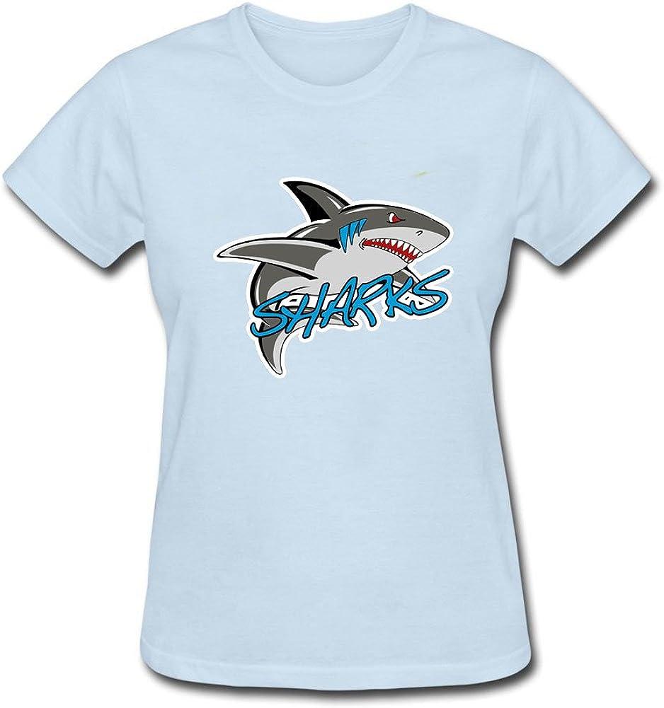 DesignCen It's a Shark Thing Tee Shirt Women Cotton DIY Tops