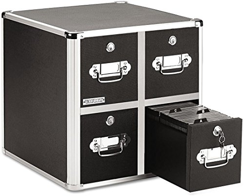 Ideastream 4-Drawer Vaultz CD Cabinet-Vaultz CD Cabinet, 4-Drawer, 8-1/2
