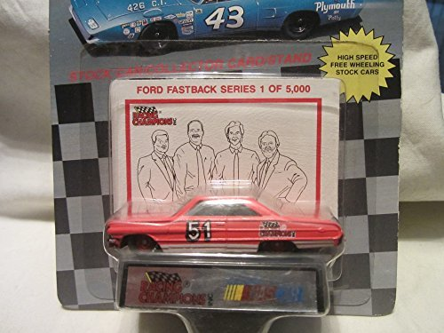 Nascar Racing Champions #51 Ford Fastback Series 1 of 5000 Stock Car with Collector Card and Stand !!! (Stand 5000 Series)