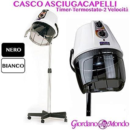 Casco secador profesional pelo Rap Hair Made Italy blanco o negro para parrucchire Negro