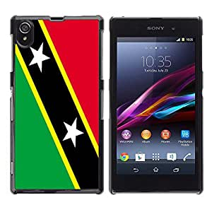 - Flag - - Hard Plastic Protective Aluminum Back Case Skin Cover FOR Sony Xperia Z1 L39 Queen Pattern