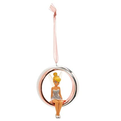 Tinkerbell Christmas Decorations Uk.Official Disney Tinker Bell On Rose Gold Ring Christmas