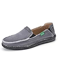 Men's Canvas Loafers Slip on Cloth Shoes Casual Flats