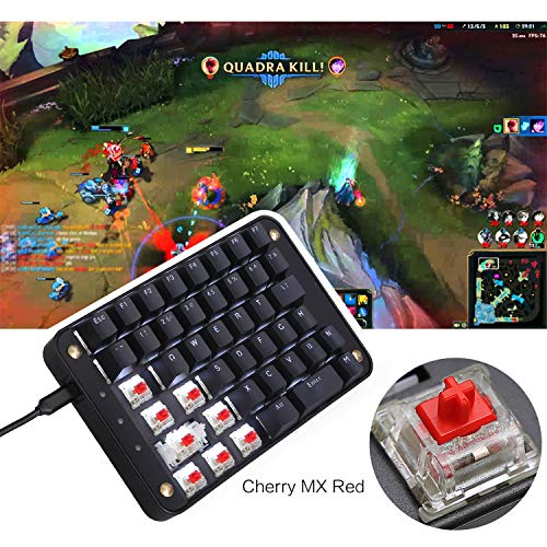 c8334b27c41 Koolertron Cherry MX Red Programmable Gaming Keypad, Mechanical Gaming  Keyboard with 43 Programmable Keys, Single-Handed Keypad Macro Setting, ...