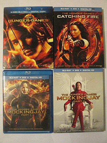 The Hunger Games 4-Film Collection (The Hunger Games /The Hunger Games: Catching Fire /The Hunger Games: Mockingjay Part 1/The Hunger Games: Mockingjay Part 2) Blu-ray/Dvd by