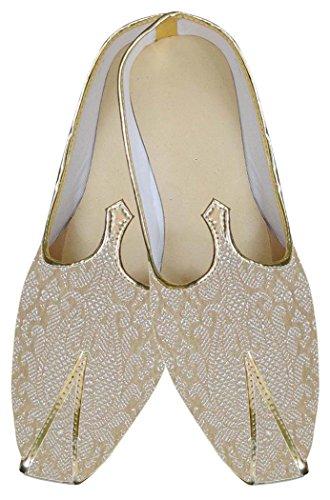 INMONARCH Herren Beige Einzigartige Indische Hochzeit Schuhe MJ0159