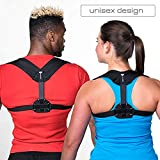 Back Brace Posture Corrector for Women & Men - Adjustable Posture Support for Shoulders - Back Pain Relief - Kyphosis Clavicle Brace Support Medical Device - Chest Support - Upper Back Pain -(S-M)
