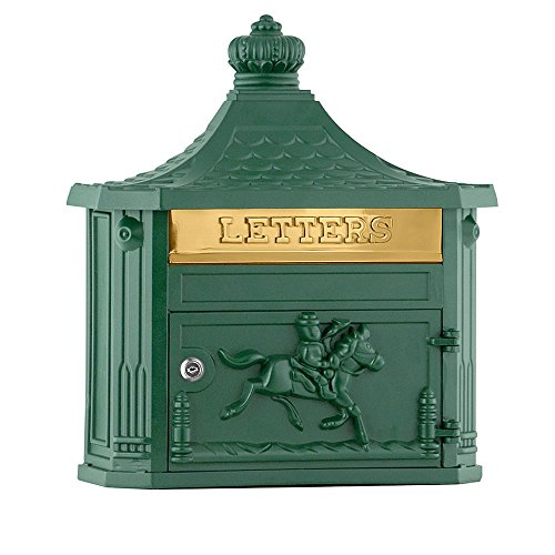 (Salsbury Industries 4460GRN Victorian Surface Mounted Mailbox, Green )