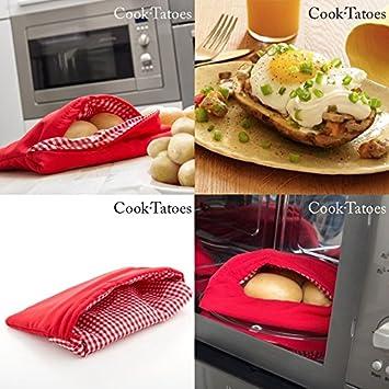 3x Kartoffel Kochtasche Kartoffel Mikrowelle Garen Beutel Express Potato Maker