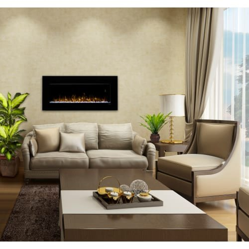 DWF3651 43 Inch Wide 4231 BTU Wall Mounted Electric Fireplace with ...