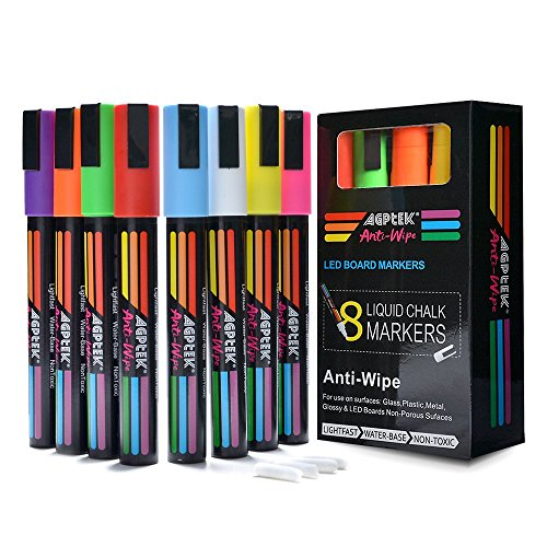 Markers Anti wipe Fluorescent Highlighter Reversible