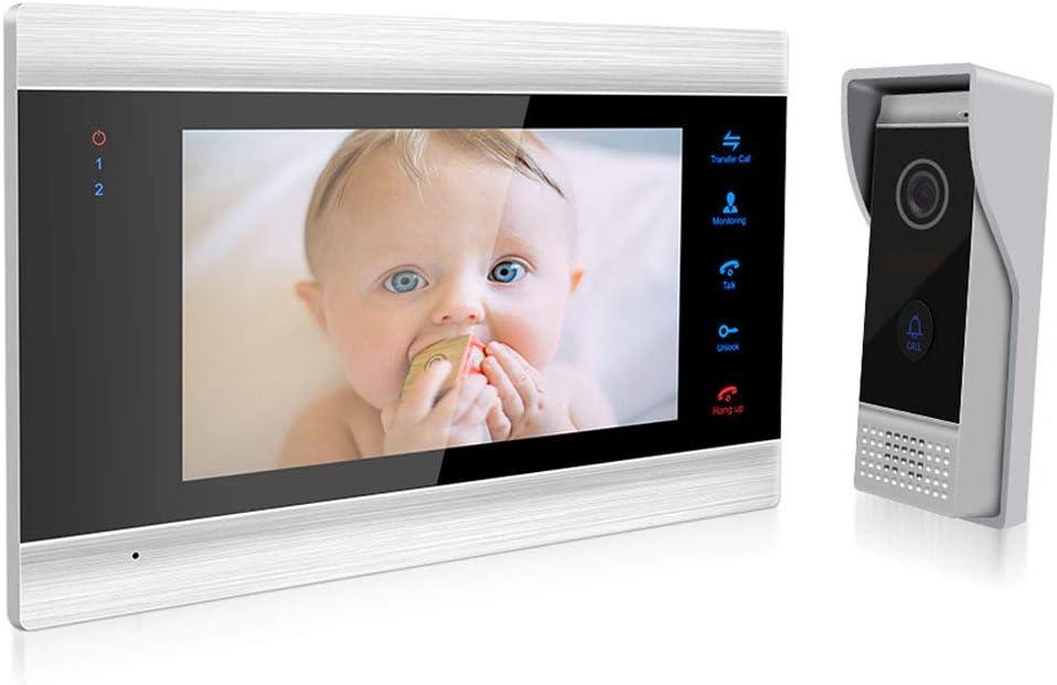 Jeatone Door Access Control 7 Inch LCD Display Video Doorbell Door Phone 1V1 HD 1200TVL Security Camera Intercom Home System