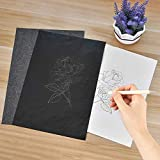 BamLue 100 Sheets Black Carbon Paper with 1 PCS