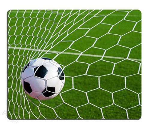 Soccer Football in Goal Net Personality Desings Gaming Mouse Pad,9.5 X 7.9 Inch (240mmX200mmX3mm)