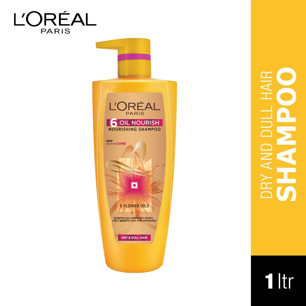 [Apply coupon] L'Oreal Paris 6 Oil Nourish Shampoo, 1 Litre