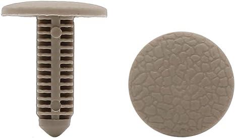 8mm x 7.5mm Hole Beige Plastic Rivets Car Door Fastener Fender Push Clips 40 Pcs