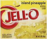 Jell-O Gelatin Dessert, Island Pineapple, 3-Ounce Boxes (Pack of 24)